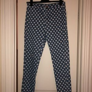 Polka Dot Skinny Jeans from Topshop (Size 30)